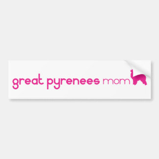 Great Pyrenees Mom Bumper Sticker