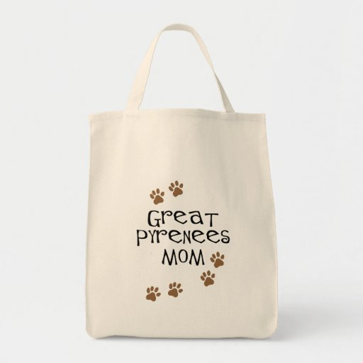 Great Pyrenees Mom Grocery Tote Bag