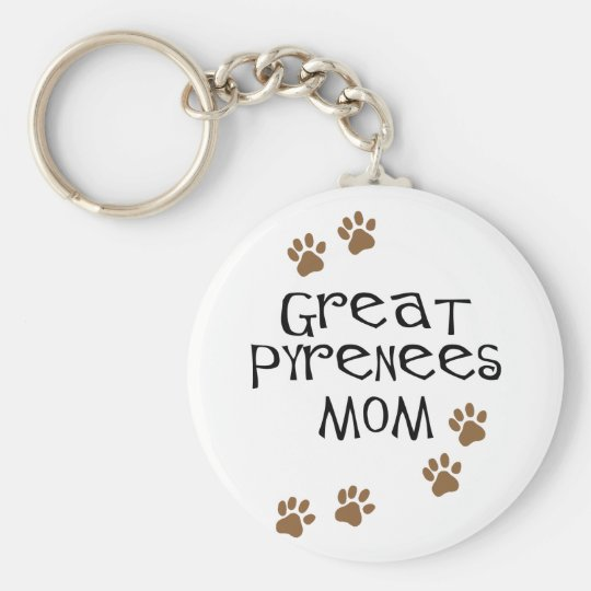 Great Pyrenees Mom Keychain