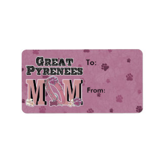 Great Pyrenees MOM Address Label