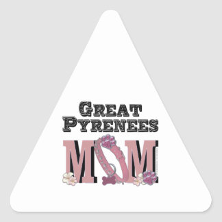 Great Pyrenees MOM Triangle Sticker
