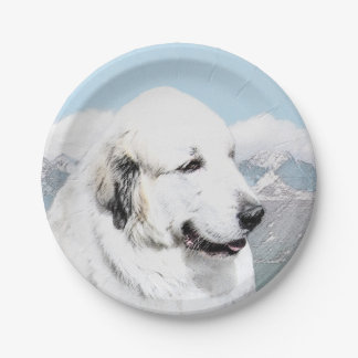 Great Pyrenees Paper Plate