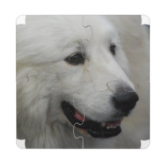 Great Pyrenees Puzzle Coaster