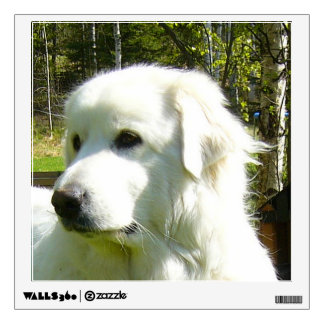 great pyrenees.png wall decal