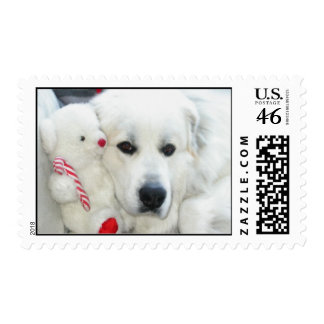 great pyrenees postage stamp