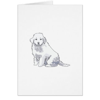 GREAT PYRENEES PUP GREETING CARD
