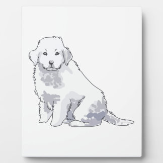 GREAT PYRENEES PUP PLAQUE