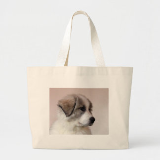 Great Pyrenees Puppy Large Tote Bag