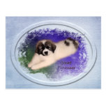 """Great Pyrenees Puppy Post Card - """"Color My World"""" Post Card"""