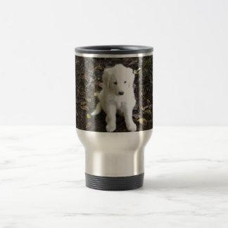 Great Pyrenees Puppy Rose Mugs