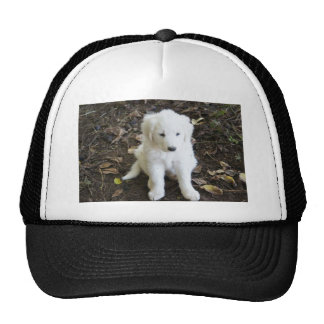 Great Pyrenees Puppy Rose Trucker Hat