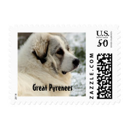 Great Pyrenees Puppy Stamp