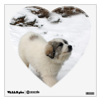 Great Pyrenees Puppy Wall Stickers