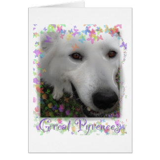 Great Pyrenees purple Card
