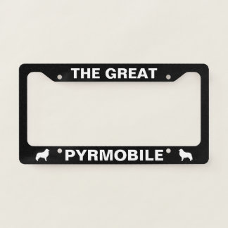 Great Pyrenees PYRMOBILE Custom License Plate Frame