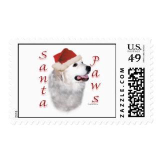 Great Pyrenees Santa Paws Stamp