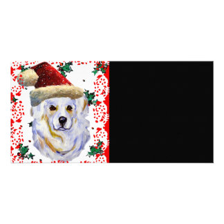Great Pyrenees Santa Picture Card