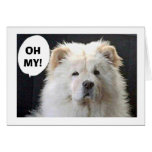 """GREAT PYRENEES SAYS """"HAPPY 40TH"""" GREETING CARD"""