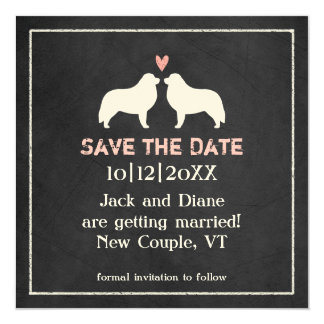 Great Pyrenees Silhouettes Wedding Save the Date Card