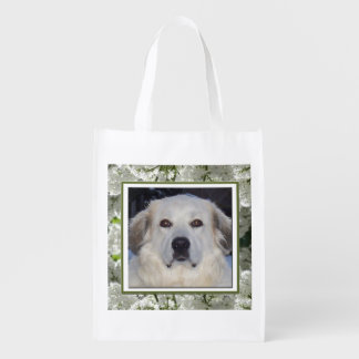 Great Pyrenees - Spring Reusable Grocery Bag