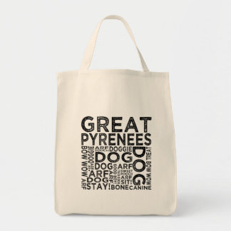 Great Pyrenees Typography Tote Bag
