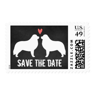 Great Pyrenees Wedding Save the Date Postage