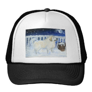 Great Pyrenees won't come in from the cold. Trucker Hat