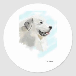 Great Pyrenese Classic Round Sticker