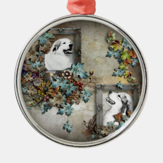 great pyreness dog metal ornament