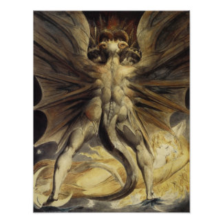 Great Red Dragon by William Blake Print