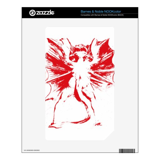 Great Red Dragon NOOK Color Decal