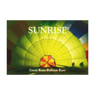 Great Reno Balloon Race - Sunrise Canvas Print