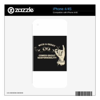 great responsibility iPhone 4 decal