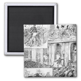 Great Riots in London 2 Inch Square Magnet