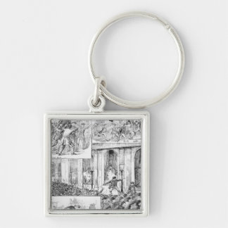 Great Riots in London Keychain
