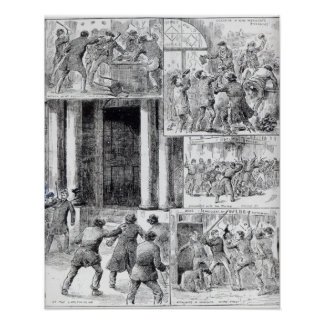 Great Riots in London Poster