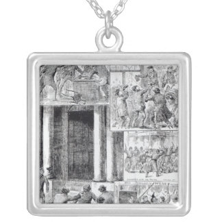 Great Riots in London Silver Plated Necklace