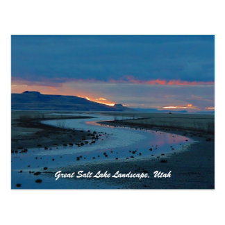 Great Salt Lake Landscape, Utah Postcard