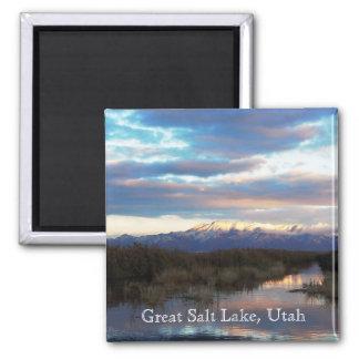 Great Salt Lake, Utah Imán Cuadrado