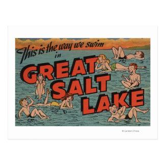 Great Salt Lake, UtahThe Way We SwimUtah Post Card