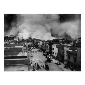 Great San Francisco Earthquake Print