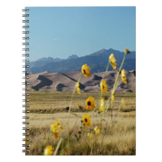 Great Sand Dunes and Flowers Spiral Note Books
