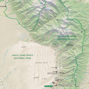 Sand Dunes Colorado Map.Great Sand Dunes National Park Gifts On Zazzle