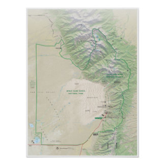 Great Sand Dunes (Colorado) map poster