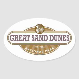 Great Sand Dunes National Park Oval Sticker