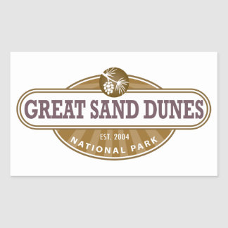 Great Sand Dunes National Park Rectangular Sticker