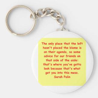 great Sarah Palin quote Basic Round Button Keychain