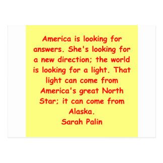 great Sarah Palin quote Postcard