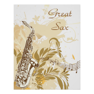 Great Sax ~ Saxophone Music Poster
