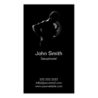 Great Saxophone Player Jazz Music Business Card